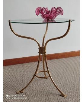 Tavolo tondo ottone